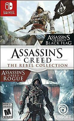 NEW Assassins Creed: The Rebel Collection (Black Flag + Rogue) - Nintendo Switch