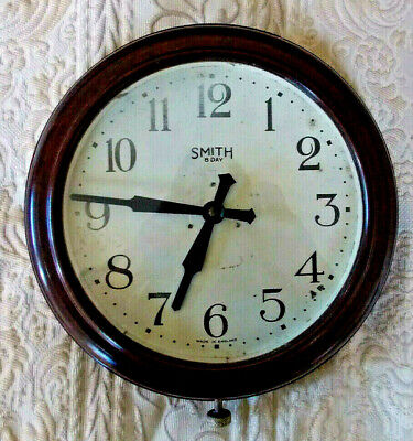 Smiths, Bakelite, vintage retro, battery wall clock. 1950's. Very good