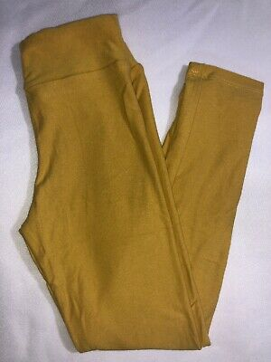 LuLaRoe Kids S/M Leggings NWT Solid Mustard Yellow Sizes 2-8