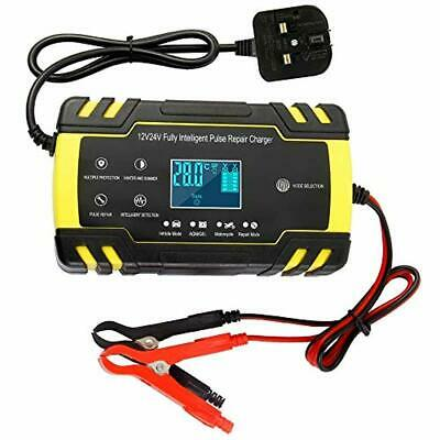 Dandelionsky Car Battery Charger and Maintainer, 12V 24V 3-Stage Automatic Trick