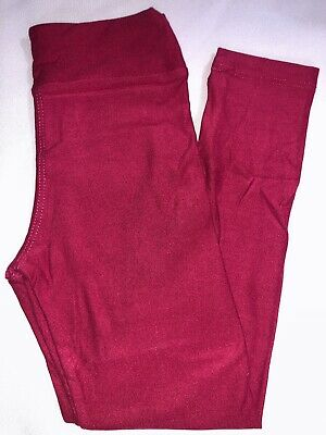LuLaRoe Kids S/M Leggings NWT Solid Magenta Valentine's Day Sizes 2-8