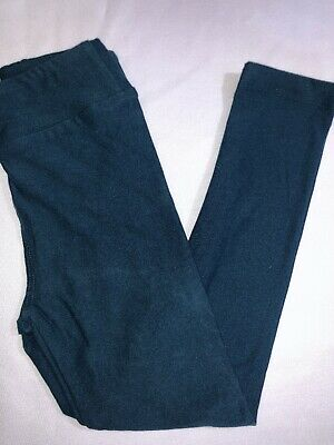 LuLaRoe Kids S/M Leggings NWT Solid Dark Teal Fits Sizes 2-8