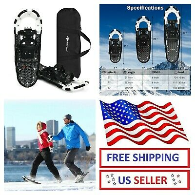 """21"""",25"""",30"""" Lightweight Aluminum All Terrain Snow Shoes Adjustable Adults Youth"""