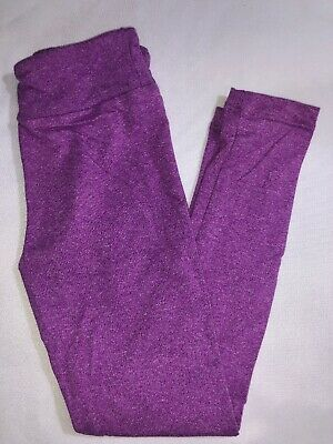 LuLaRoe Kids S/M Leggings NWT Heathered Purple Valentine's Day Sizes 2-8