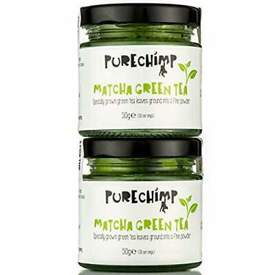 PureChimp Matcha Green Tea Powder | Regular/Lemon/Mint/Turmeric 50g Jars [Packs