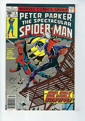 PETER PARKER, SPECTACULAR SPIDER-MAN # 8 (MORBIUS app. JULY 1977), VF