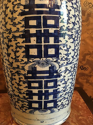 A Large  Chinese 19th C Blue and White Vase.