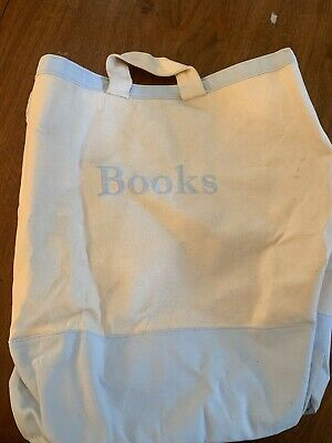 Pottery Barn Kids Canvas Books Storage Large Tote Bag Hamper Container