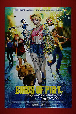 Birds of Prey Fabulous Emancipation of One Harley Quinn Movie Poster 24X36 BOFP