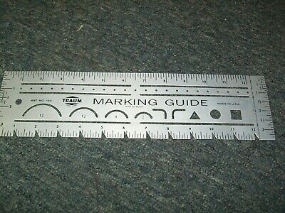 TRAUM Marking Guide Art No 134 Sewing Tool Ruler Measure Alteration USA