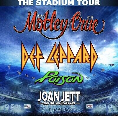 2 Tickets Def Leppard, Motley Crue, Poison, 06/27, Minneapolis, MN Bank Stadium