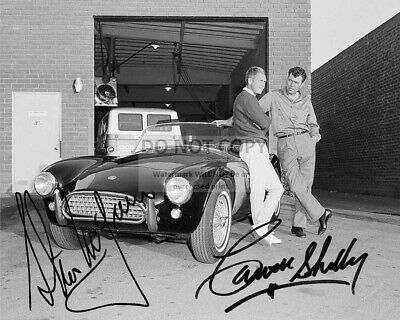 STEVE McQUEEN, CARROLL SHELBY AND A COBRA 289 ROADSTER - 8X10 PHOTO (RP006)