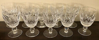 """Set of 10 pcs Claret Wine Colleen Short Stem (Cut) by Waterford Crystal 4 3/4"""" H"""