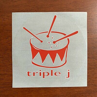 Triple J Logo Sticker 90's Clear Circular 9cm