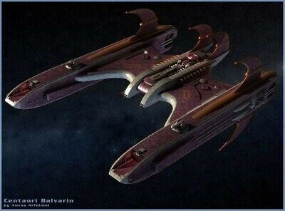 Centauri Balvarin Cruiser Babylon 5 Model