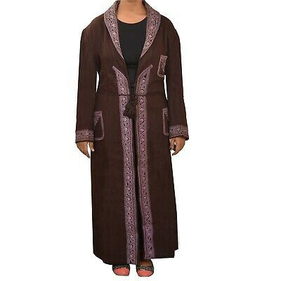 TCW Vintage Fabric Woolen Hand Embroidered Kashmiri Long Top Open Style Jacket
