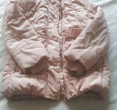 Girls pink puffa coat with age 5-6 years