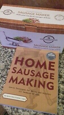 Sausage maker manual make your own fresh sausages with book with 100 recipes