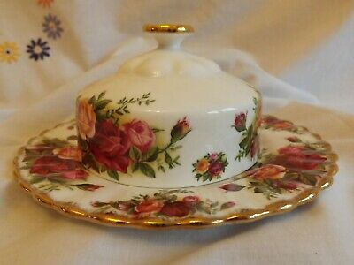 Beautiful Royal Albert Old Country Rose Butter Dish