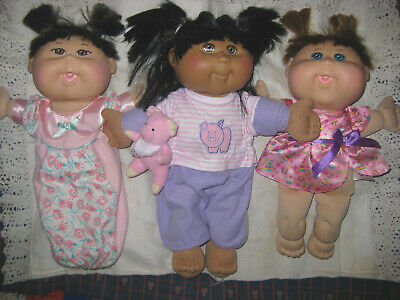 3 Small Cabbage Patch Kids Baby Or Toddler Dolls