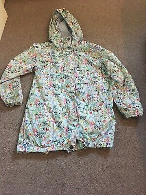 Girls Next Floral Raincoat Jacket Age 9 Years