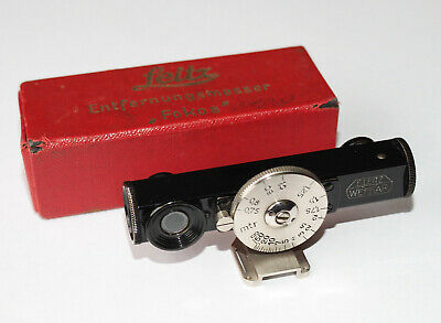 LEITZ FOKOS R/F BLACK / NICKEL with MOUNT for LEICA STANDARD BOXED MINTY!