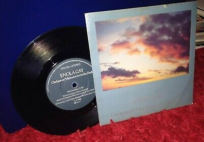 """O.M.D. Enola Gay 1980 UK 7"""" vinyl single OMD Orchestral manoeuvres in the dark E"""