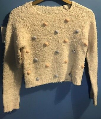 Girls Acrylic/Polyester Knitted Style Jumper By Dunnes Age 1011