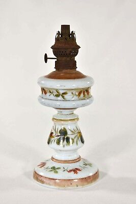 Antique Chinese Glass Oil Lamp