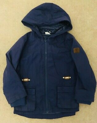 Florence and Fred Boys Blue Hooded Jacket - Age 5-6