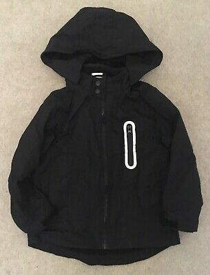 Florence and Fred Boys Black Hooded Jacket - Age 5-6