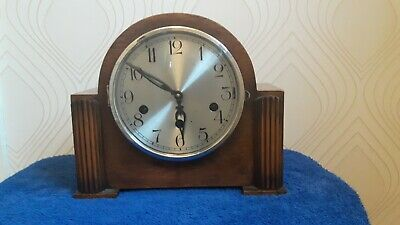 Art Deco Westminster Chime Mantel Clock . Working