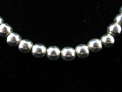 """Sterling Silver 925 8mm Bead Necklace with Toggle Clasp - 18"""""""