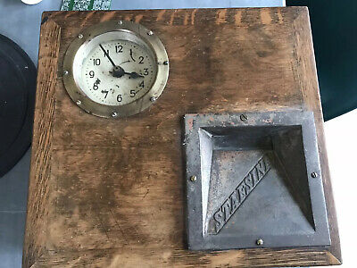 Vintage Gensign General Signal & Time Systems Ltd Clocking In Machine For Parts