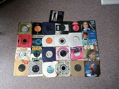 "Joblot Collection of 26 Vinyl 7"" Records Music 1960s 1970s 1980s 60s 70s 80s"