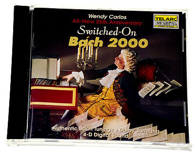 SWITCHED-ON BACH 2000 WENDY CARLOS 25TH ANNIVERSARY Rare CD Album - Complete VGC