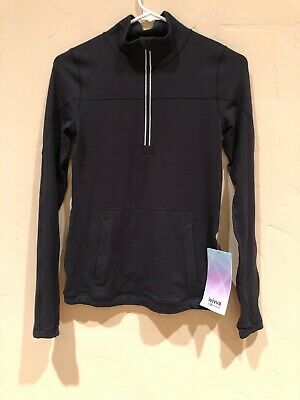 NWT Ivivva Girls Another Lap 1/2 Zip Black Size 12