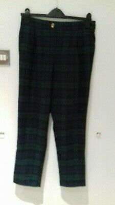 New Look ladies checked trousers size 10