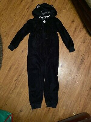 Girls Black Cat One Piece Age 8/10 Years H&M