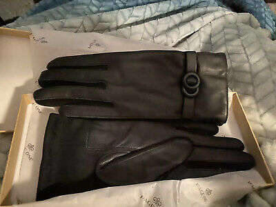 Page One Women's Leather Driving Gloves, Medium- Black Brand New