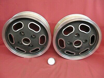 Two NOS VW Factory Accessory Formula Vee Turtleback Wheels 15 x 4.5