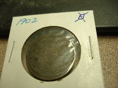 1902 - Canada - 1 cent coin - Canadian penny -