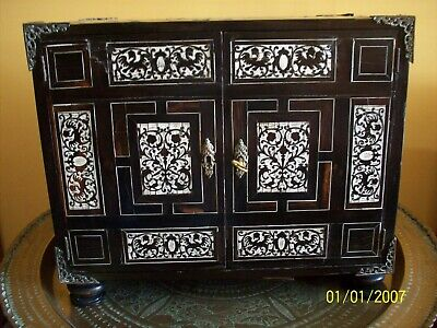 Venetian Secretaire Wood Inlaid With Ivory 18Th Century (Pick-Up Only)