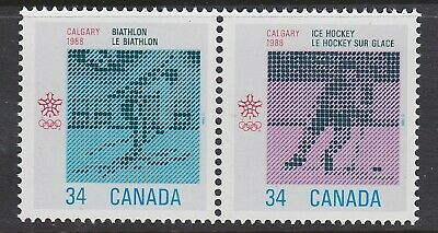 CANADA NO  1112a (1111 TO 1112), 1988 WINTER OLYMPIC GAMES,  MINT NH