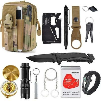 13 in 1 survival Gear kit Set Outdoor Camping Travel Survival Products EDC Tool