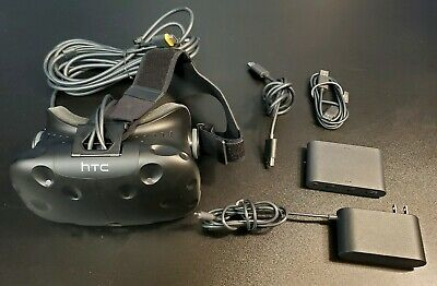 HTC Vive VR Headset w/Link Box + Cables Only GREAT CONDITION