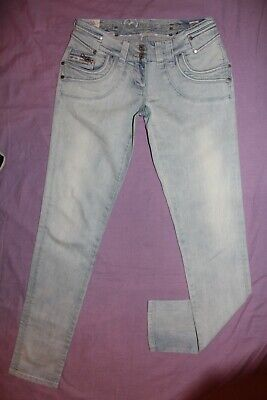 "1) Ladies R-Island bnwot l-blue skinny zip cotton stretch jeans. 8 W28""/L32.5"""
