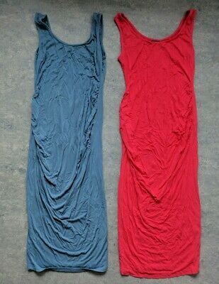 Pink and Blue Maternity Dresses bundle spring summer size small 8 - 10