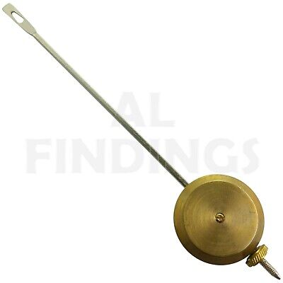 "Clock Pendulum Universal Brass Bob Adjustable Wall Clocks Mantle Part 7"" Long"