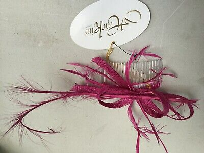 Fascinator Comb - Fuschia Pink Sh7